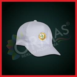 OGM Baskılı Beyaz Şapka